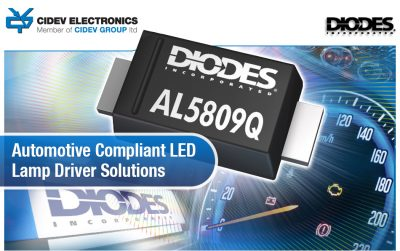 DIODES Automotive Compliant LED Lamp Driver Solutions
