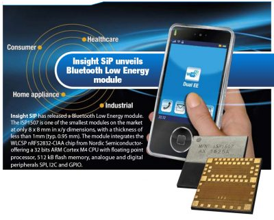 Insight SiP unveils Bluetooth Low Energy module