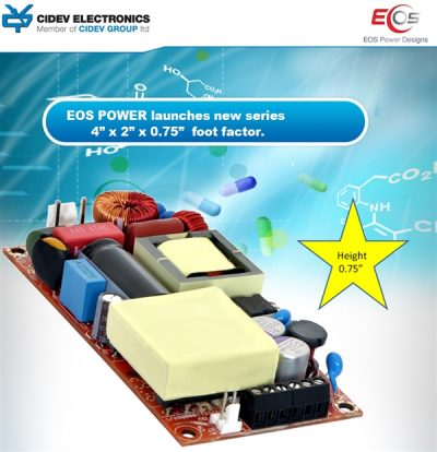"""EOS POWER launches new series 4"""" x 2"""" x 0.75"""" foot factor"""