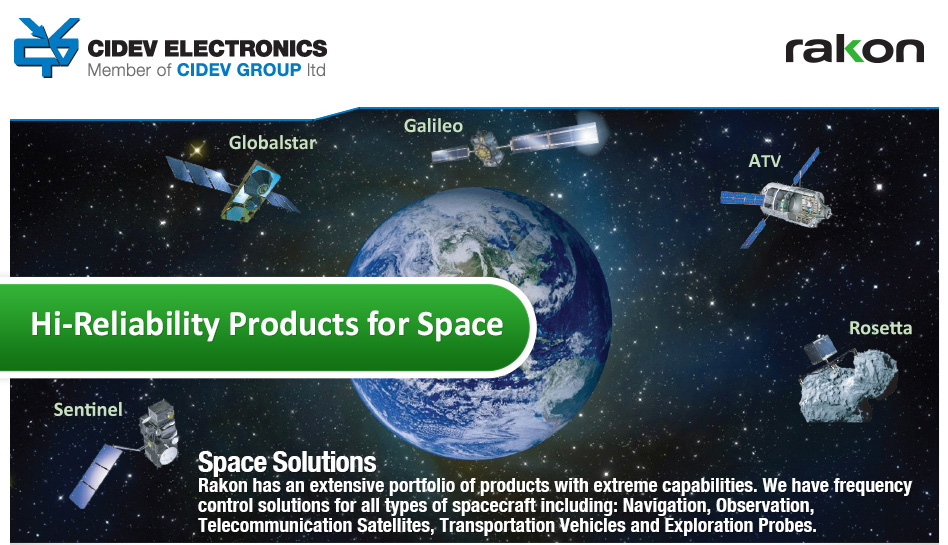CIDEV presents rakon's Hi - Reliability Products for Space